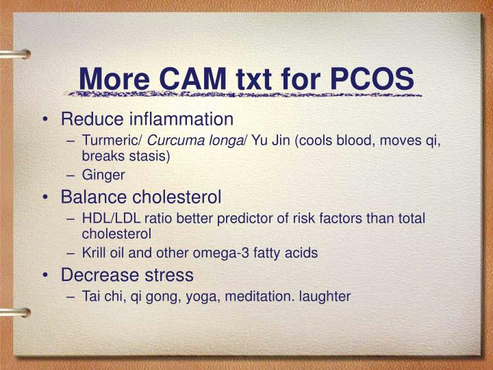 More CAM txt for PCOS