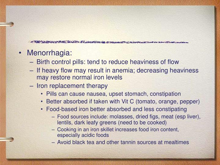 Menorrhagia: