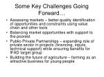 some key challenges going forward