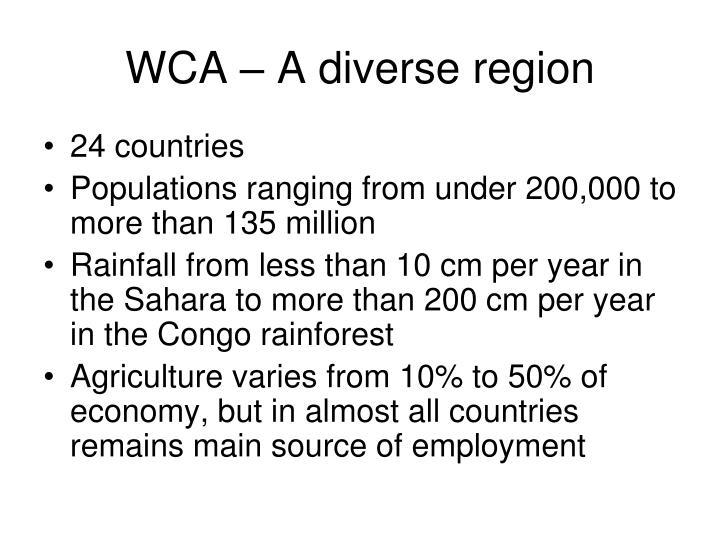 WCA – A diverse region