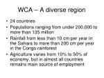 wca a diverse region