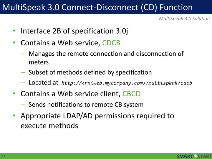 MultiSpeak 3.0 Connect-Disconnect (CD) Function