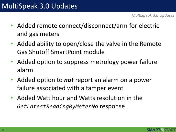 MultiSpeak 3.0 Updates