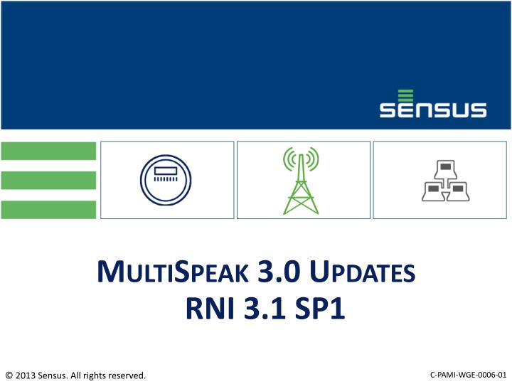 MultiSpeak 3.0 Updates