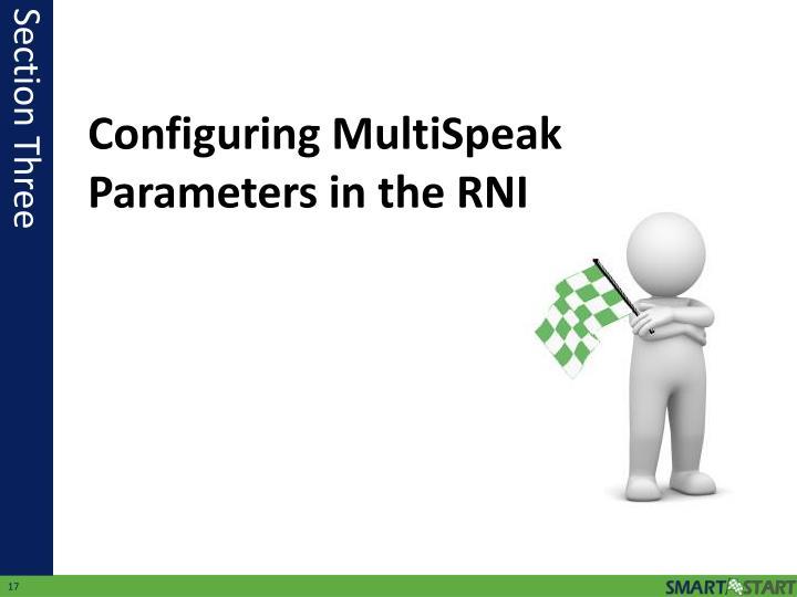 Configuring MultiSpeak Parameters in the RNI