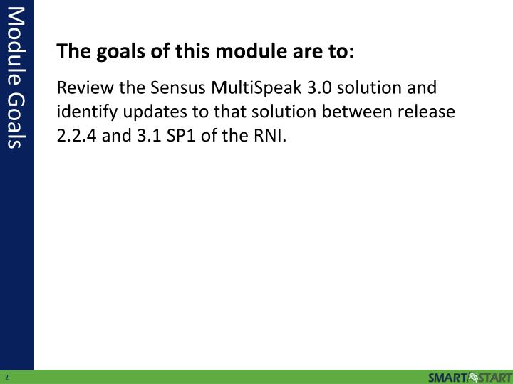 Review the Sensus MultiSpeak 3.0 solution and identify updates to that solution between release 2.2.4 and 3.1 SP1 of the RNI.
