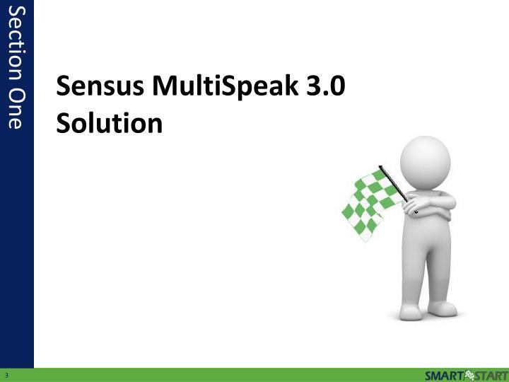 Sensus MultiSpeak 3.0 Solution