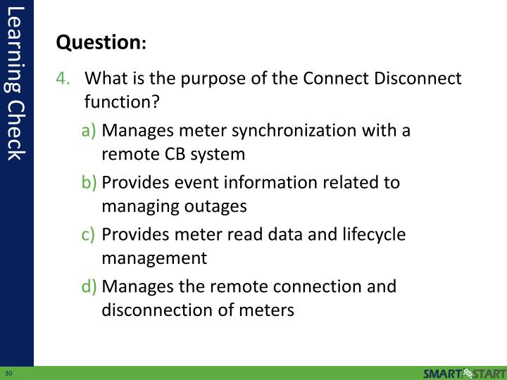 What is the purpose of the Connect Disconnect function?