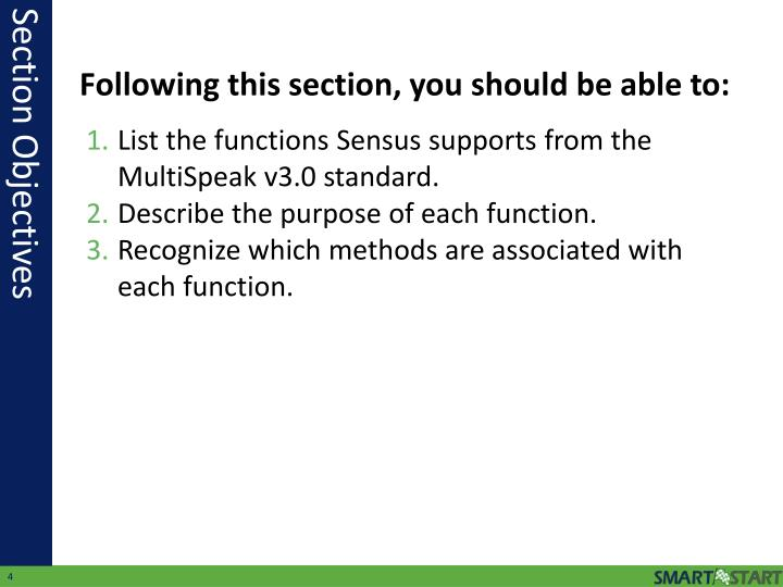 List the functions Sensus supports from the MultiSpeak v3.0 standard.