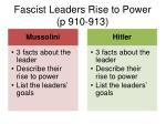 fascist leaders rise to power p 910 913