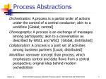 process abstractions