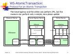 ws atomictransaction protocol for an atomic transaction