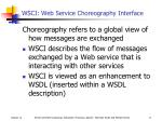 wsci web service choreography interface