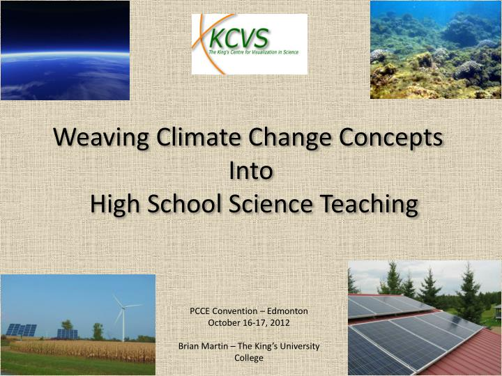 Weaving Climate Change Concepts