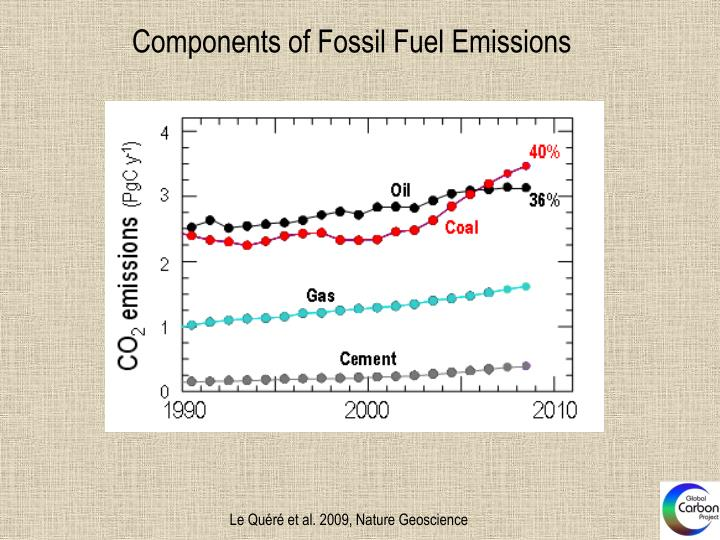 Components of Fossil Fuel Emissions