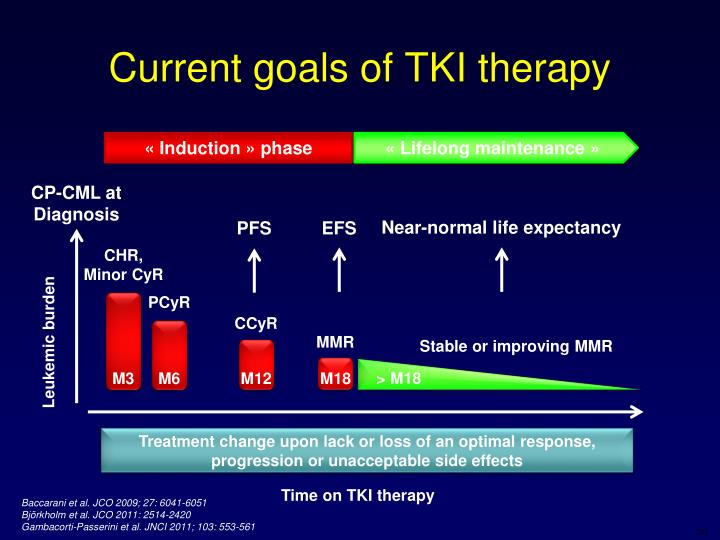 Current goals of TKI therapy
