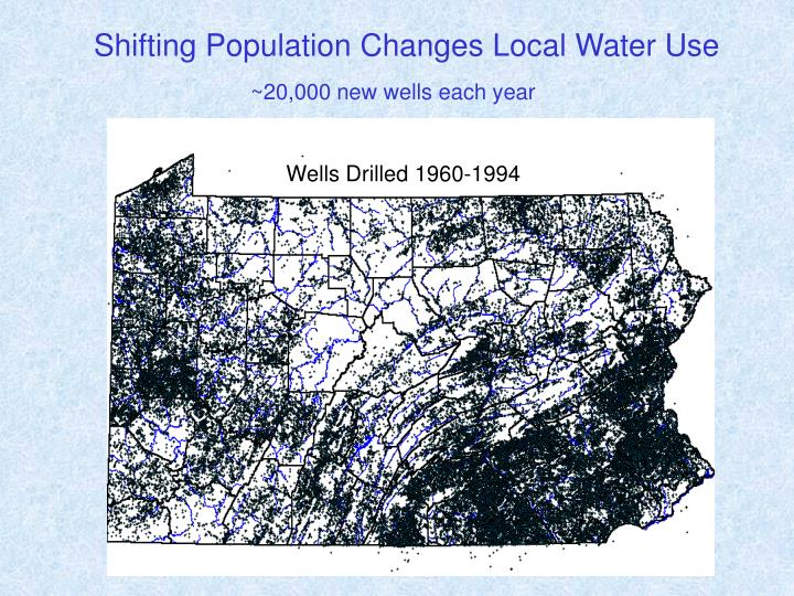 Shifting Population Changes Local Water Use