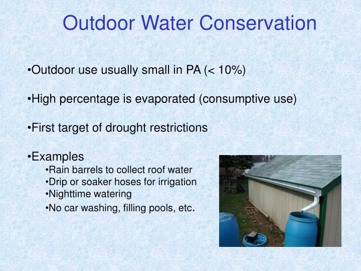 Outdoor Water Conservation