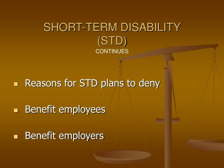 Short Term Disability : Ppt paid time off benefits powerpoint presentation id
