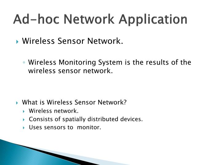 Ad-hoc Network Application