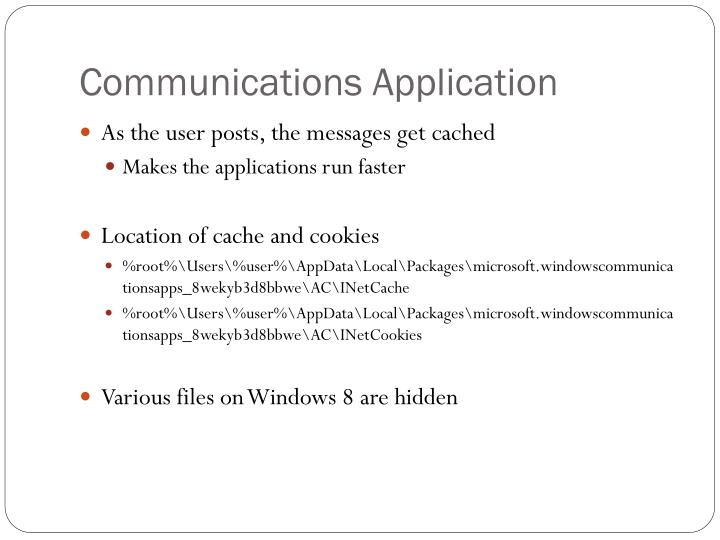 Communications Application