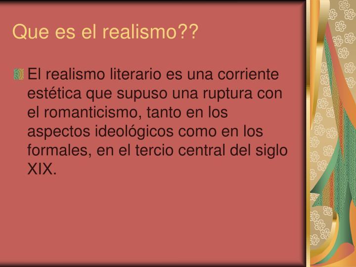 Que es el realismo??