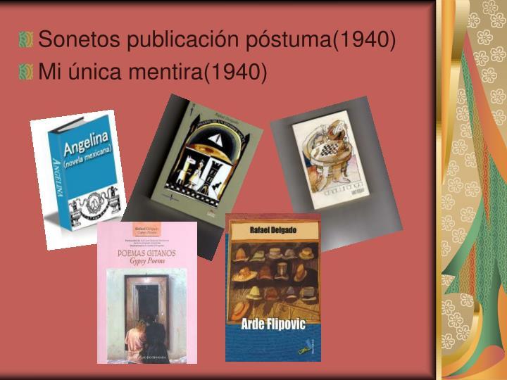 Sonetos publicación póstuma(1940)