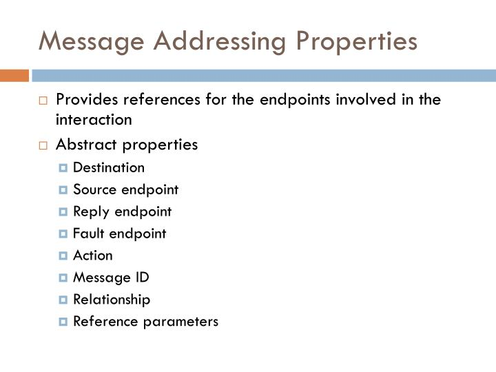 Message Addressing Properties