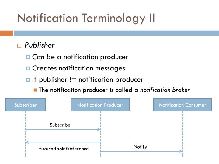 Notification Terminology II