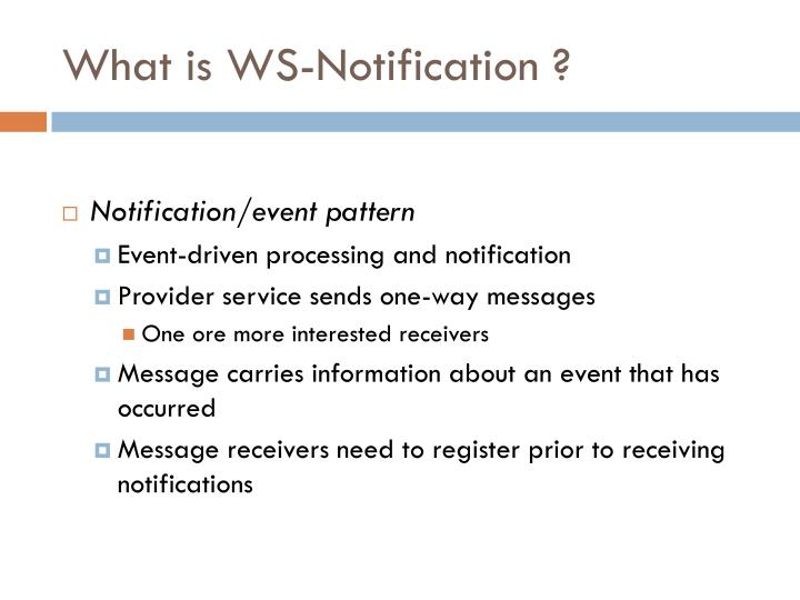 What is WS-Notification ?
