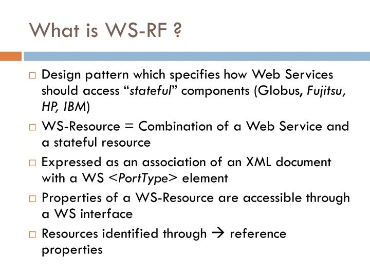 What is WS-RF ?