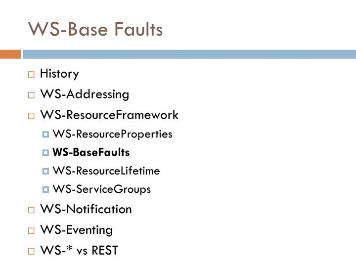 WS-Base Faults