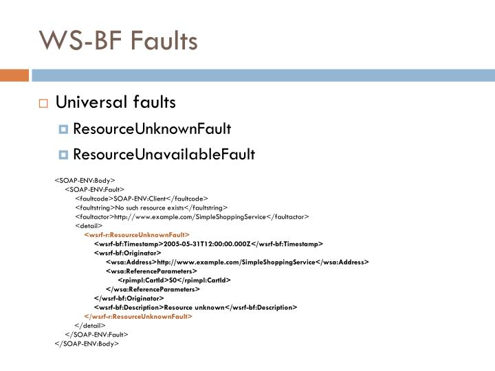 WS-BF Faults