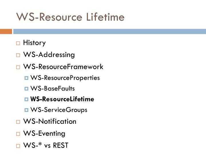 WS-Resource Lifetime