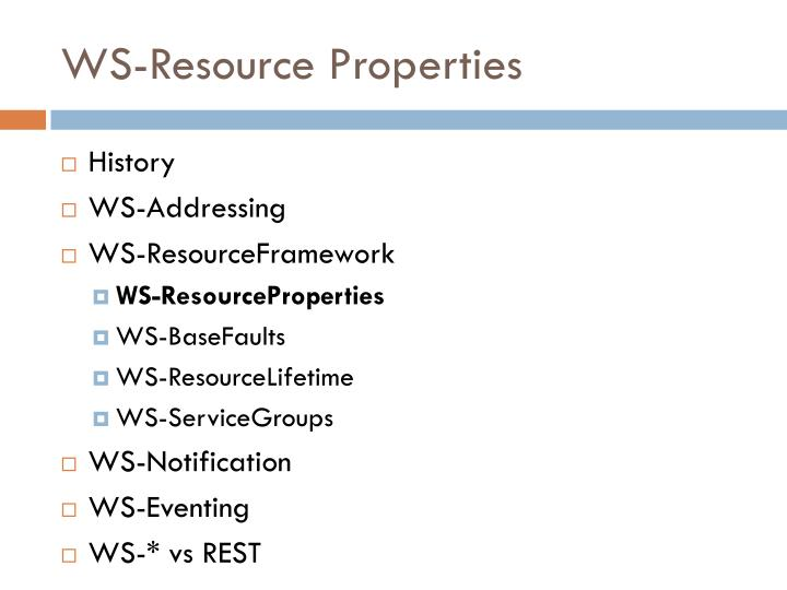 WS-Resource Properties