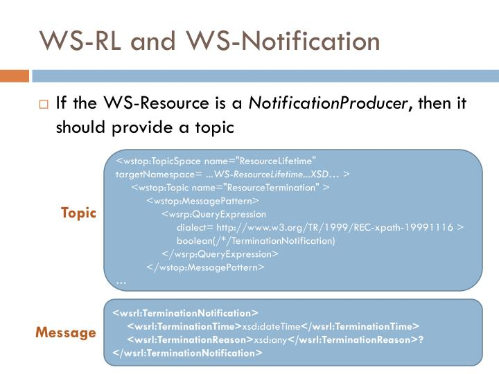 WS-RL and WS-Notification