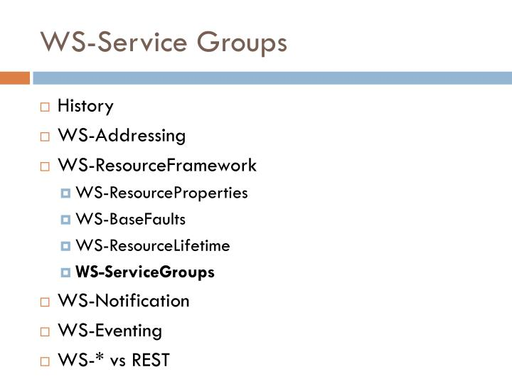 WS-Service Groups