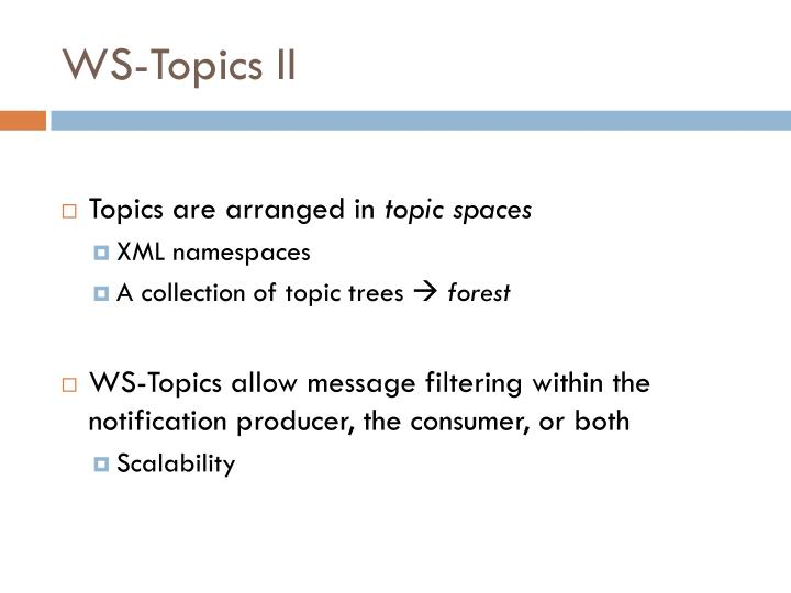 WS-Topics II