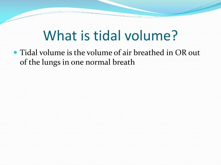 What is tidal volume?