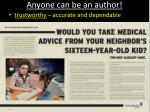 anyone can be an author