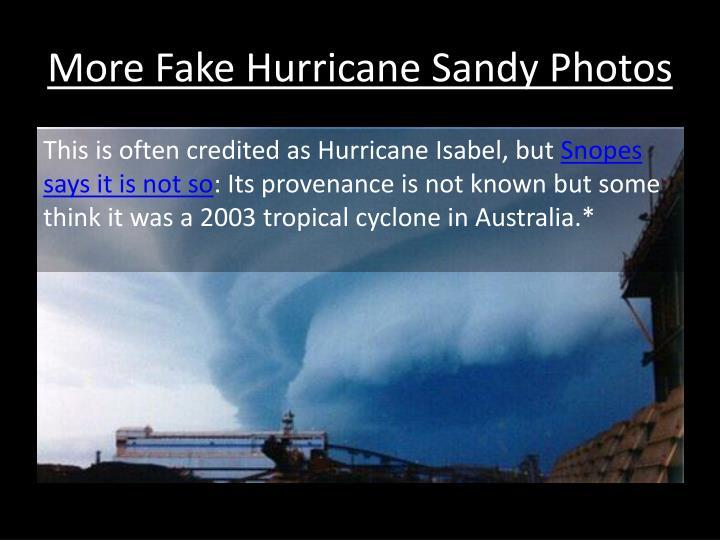 More Fake Hurricane Sandy Photos
