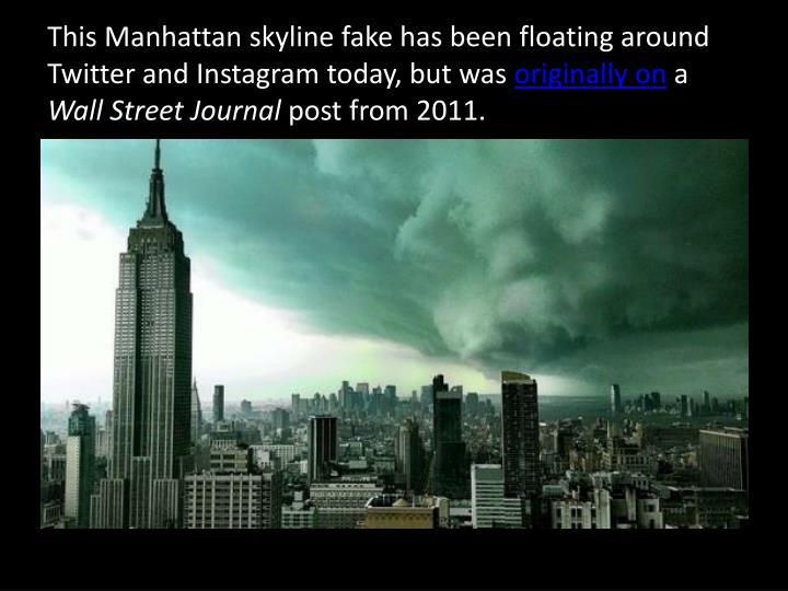 This Manhattan skyline fake has been floating around Twitter and