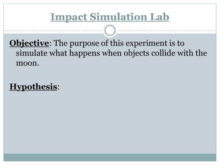 Impact Simulation Lab