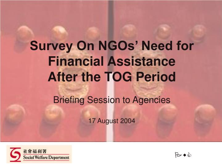 Survey On NGOs' Need for