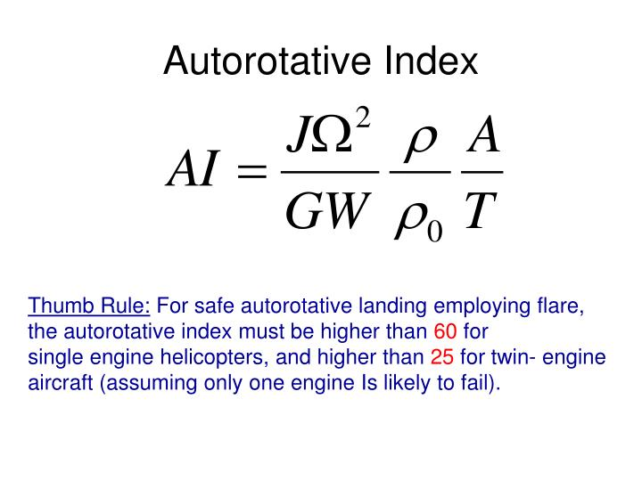 Autorotative Index