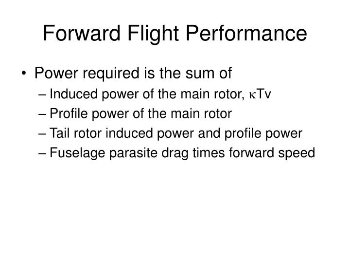 Forward Flight Performance
