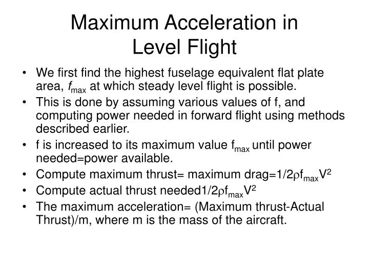 Maximum Acceleration in