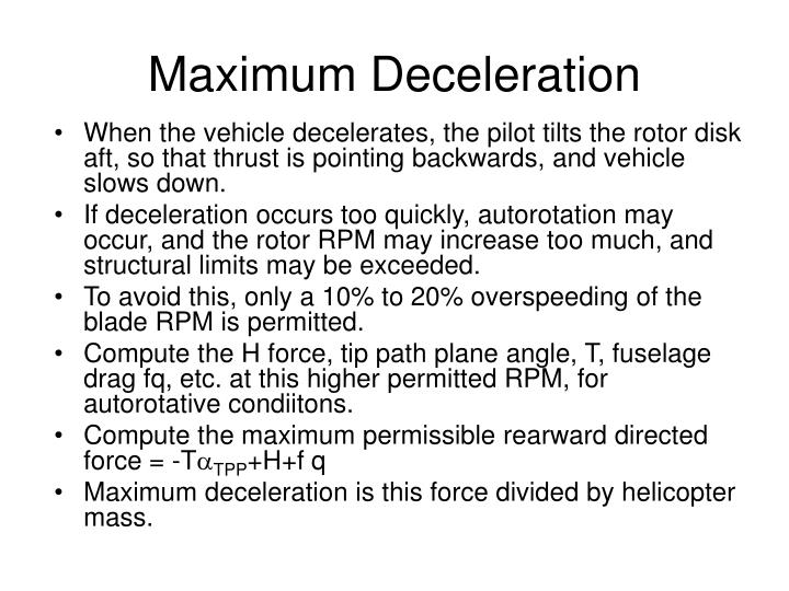 Maximum Deceleration