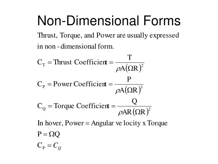 Non-Dimensional Forms