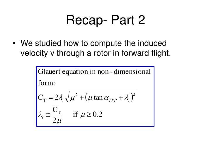 Recap- Part 2